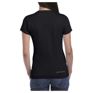 Ladies-Flower-Shirt-Black-back