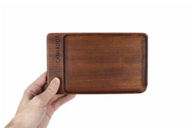 Cannador® Mahogany Rolling Tray
